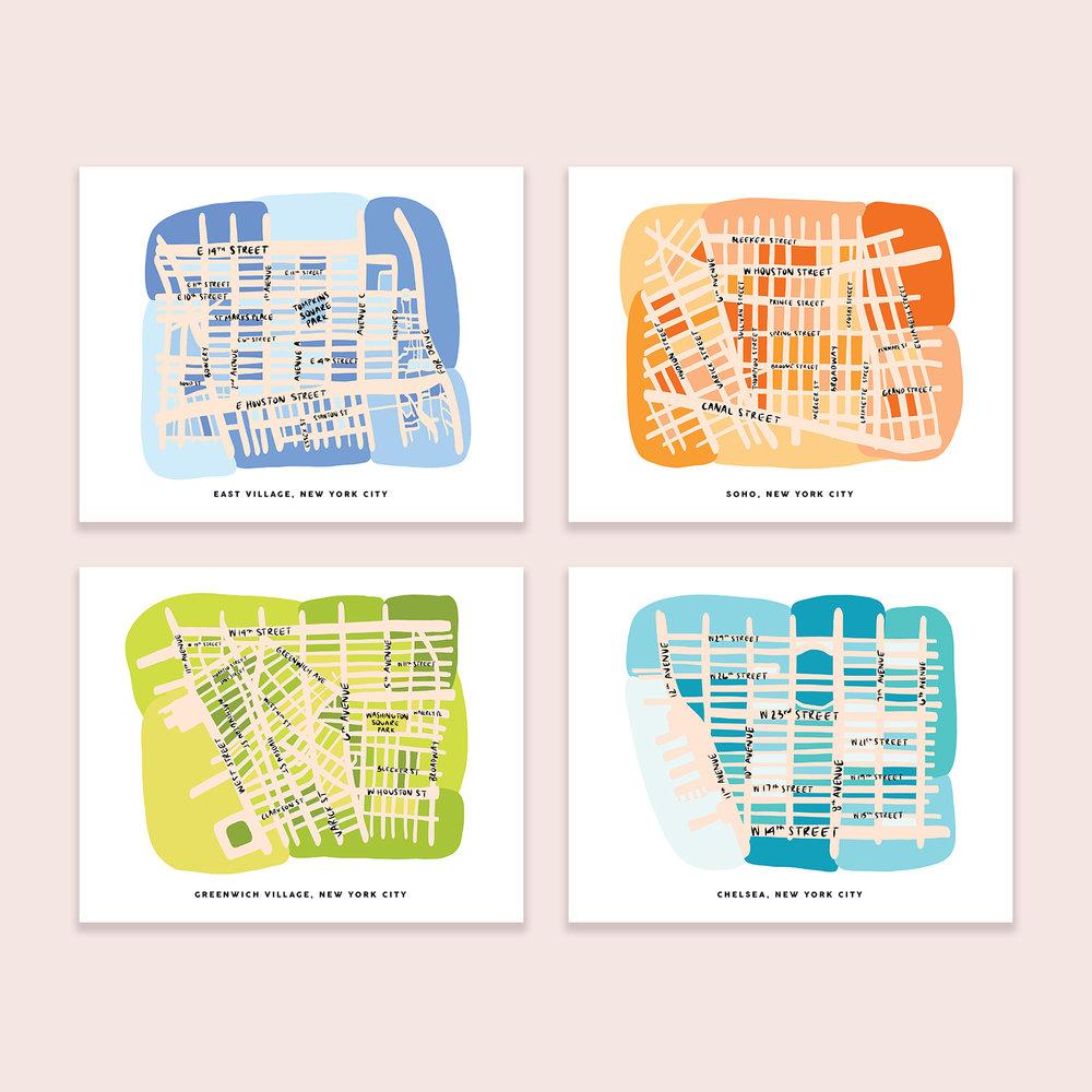 Soho NYC Map Illustration Print — Nicole Goldfarb Design