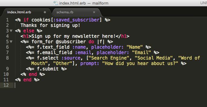 How To Make A Newsletter Form In Ruby On Rails Matt Morgante