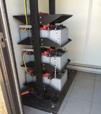 Twelve (12) battery bank, 24VDC