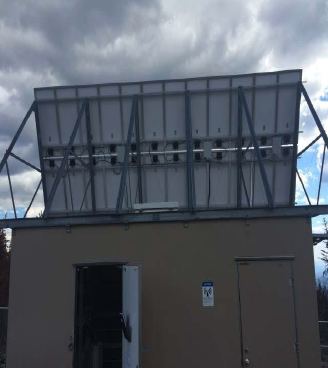 Existing Equipment Shelter & PV Solar Array