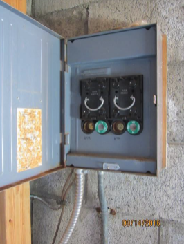 Existing Electrical Service Panel