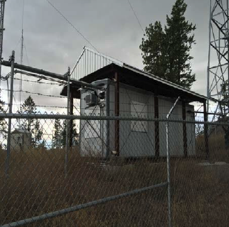 Existing Equipment Shelter (NE View)