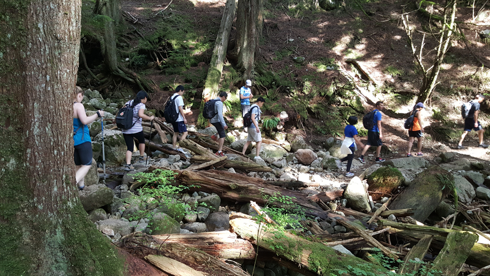 The MMM Vancouver bridge group during their hike for BE A BRIDGE.