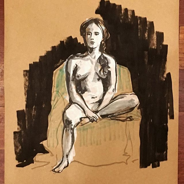 Had a great day figure drawing @highschoolofartanddesign #drawathon2018 ✨✨✨ @speckstheallmighty1 #newyorkart #nycart #brooklyn #figuredrawing #reportage #sketchbook #sketching #art #artistsoninstagram #gesture #gesturedrawing