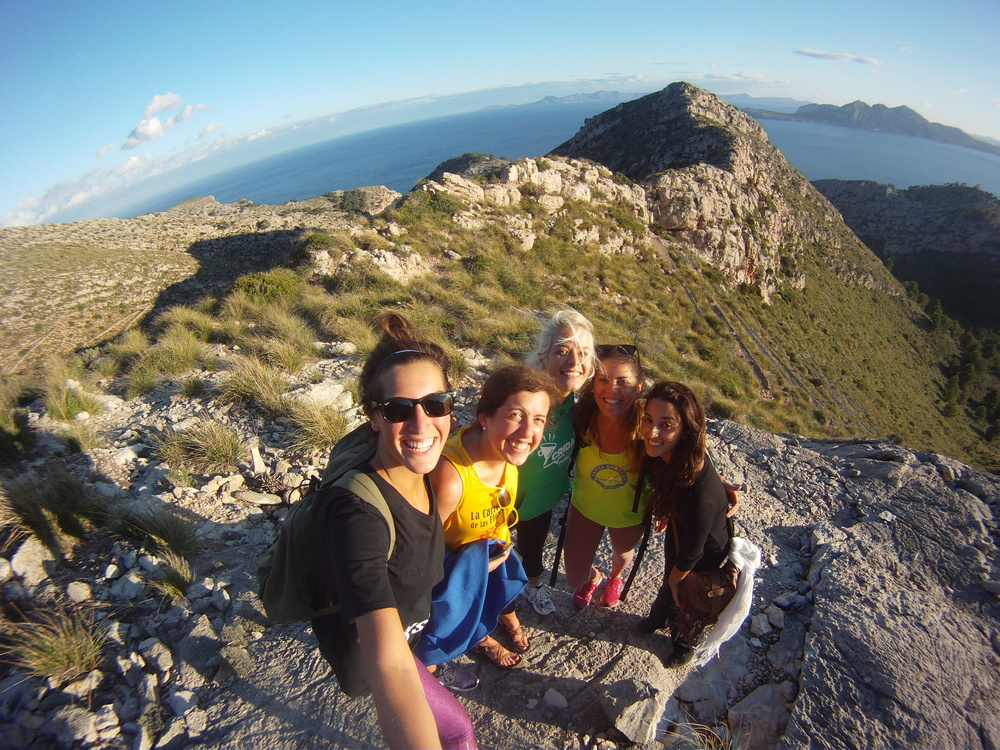 At the top of our hike in Formentor looking out over Pollença Bay.