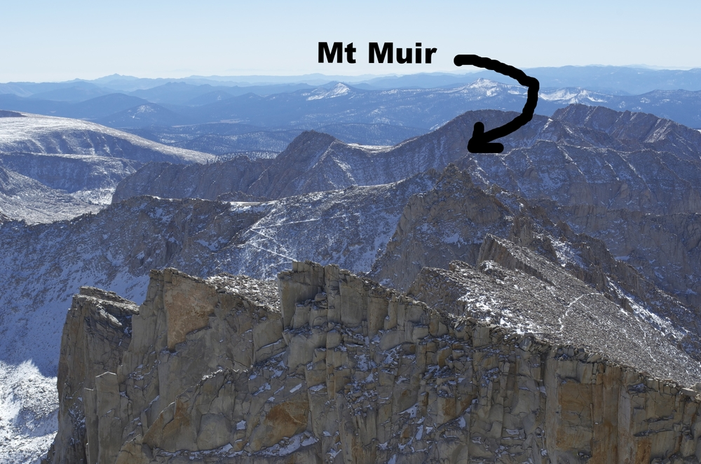 View from Mt Whitney