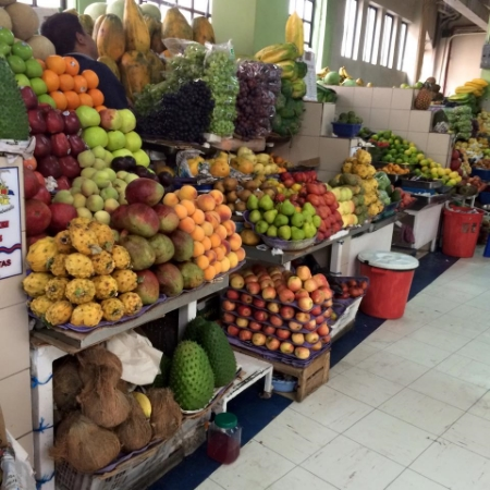 Tropical fruit up to your ears - here, in Quito, Ecuador