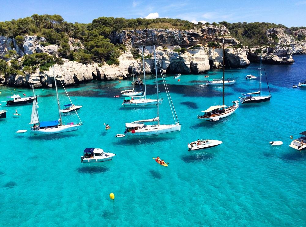 "Cala Macarella - ""Floating Sailboats"""