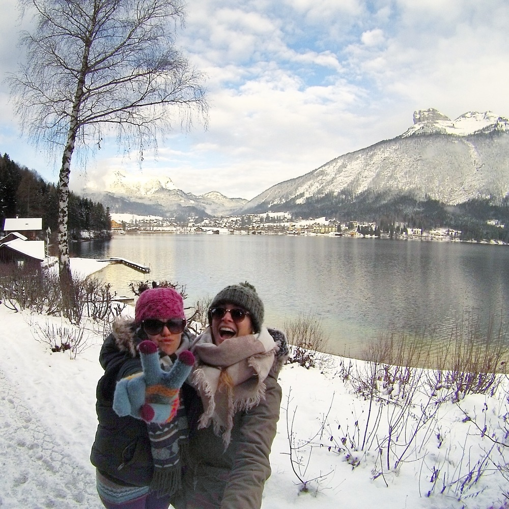 Hiking around Altaussee with Loser Mountain in the background, Austria