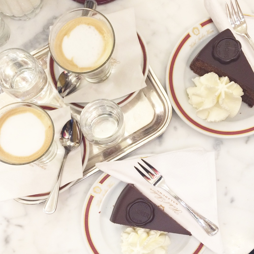 Coffee and cake at Cafe Sacher