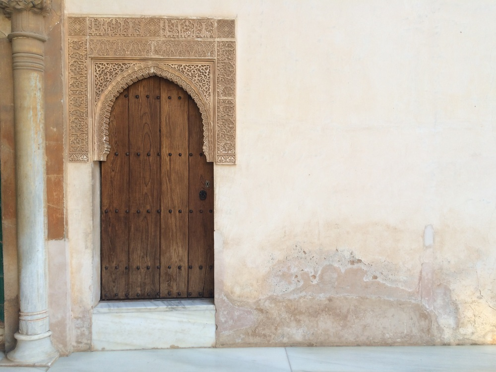 Moroccan influenced doors of the Alhambra