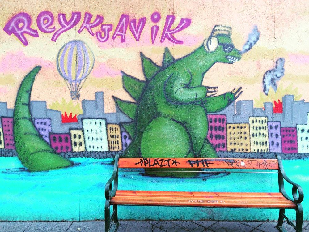 Sweet graffiti art,Reykjavík.