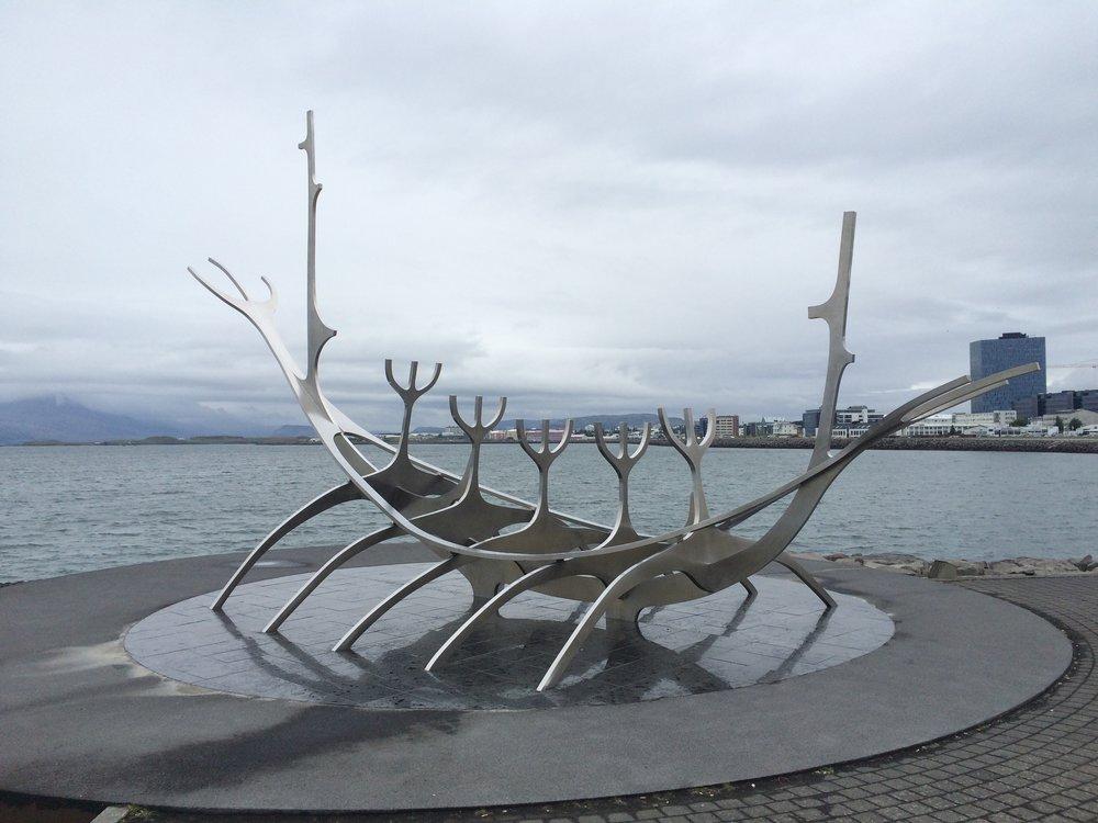 Iconic Sun Voyager sculpture,Reykjavík.