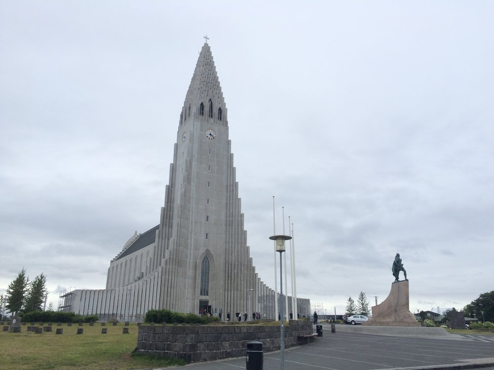 Hallgrímskirkja church in Reykjavík.