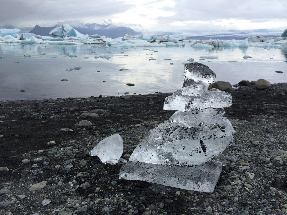 Jökulsárlón, or Glacier Lagoon.