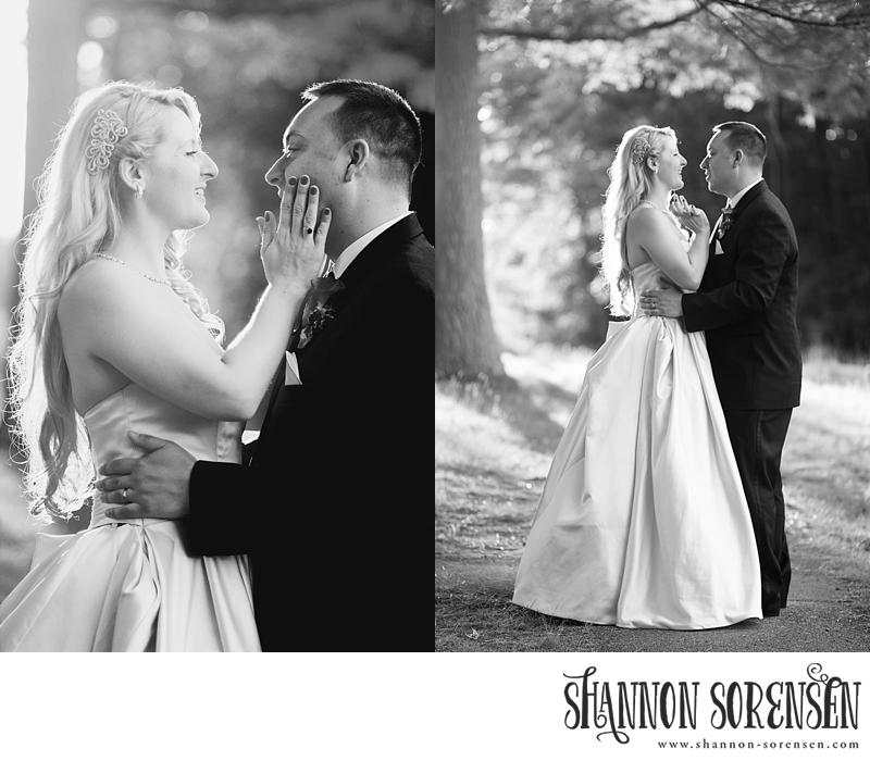 Rosalind and Matt Black and White Sunset Portraits