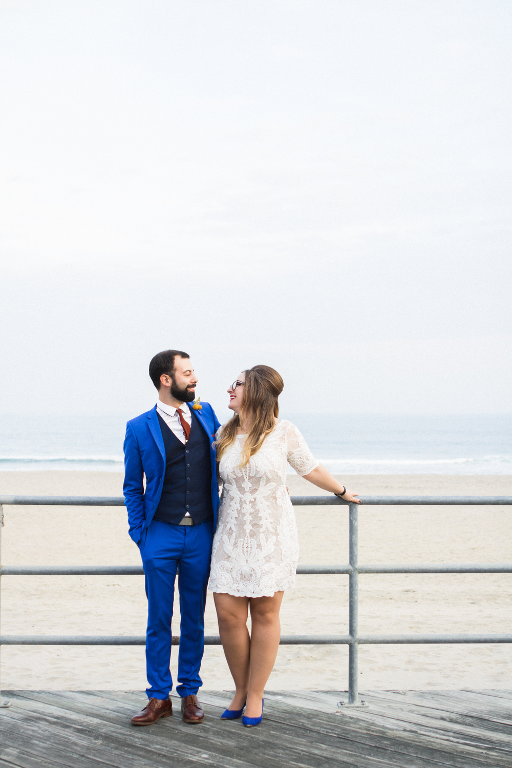 Victoria and Nick Asbury Park Boardwalk Tim McLoone's Supper Club New Jersey Shore Wedding Shannon Sorensen Photography