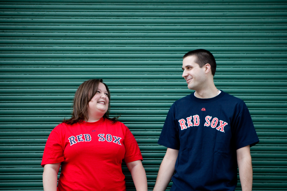 Fenway Park Boston Engagement Session Shannon Sorensen Photography