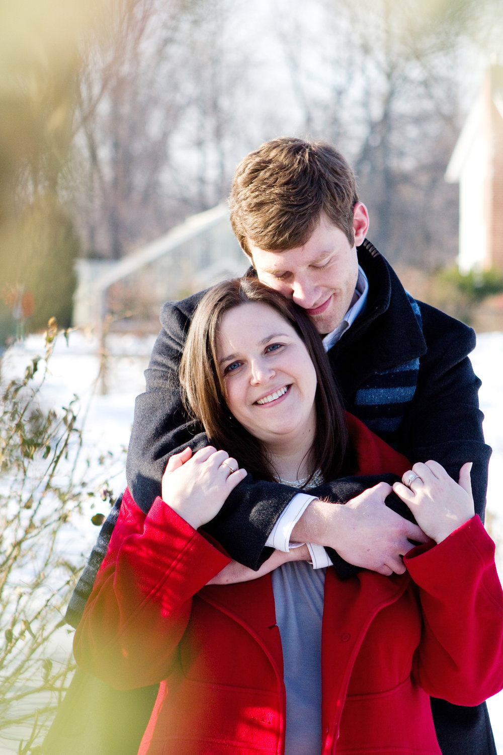 Liz and Nathan Elizabeth Park West Hartford Connecticut Winter Engagement Photography