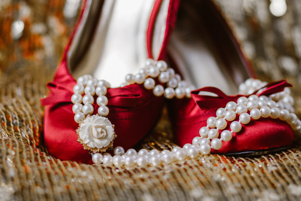Bridal Details Wedding Shoes Necklace Accessories by Shannon Sorensen Photography