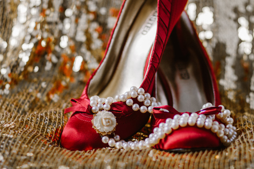 Wedding Bridal Accessory Shoe Jewelry Necklace Photographer Shannon Sorensen Photography
