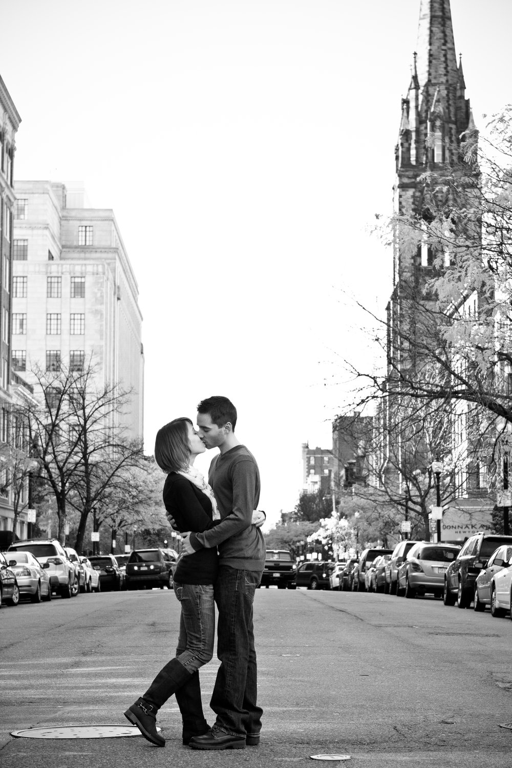 Emily and Pat Copley Square Boston Public Garden Massachusetts Engagement Photographer Shannon Sorensen Photography