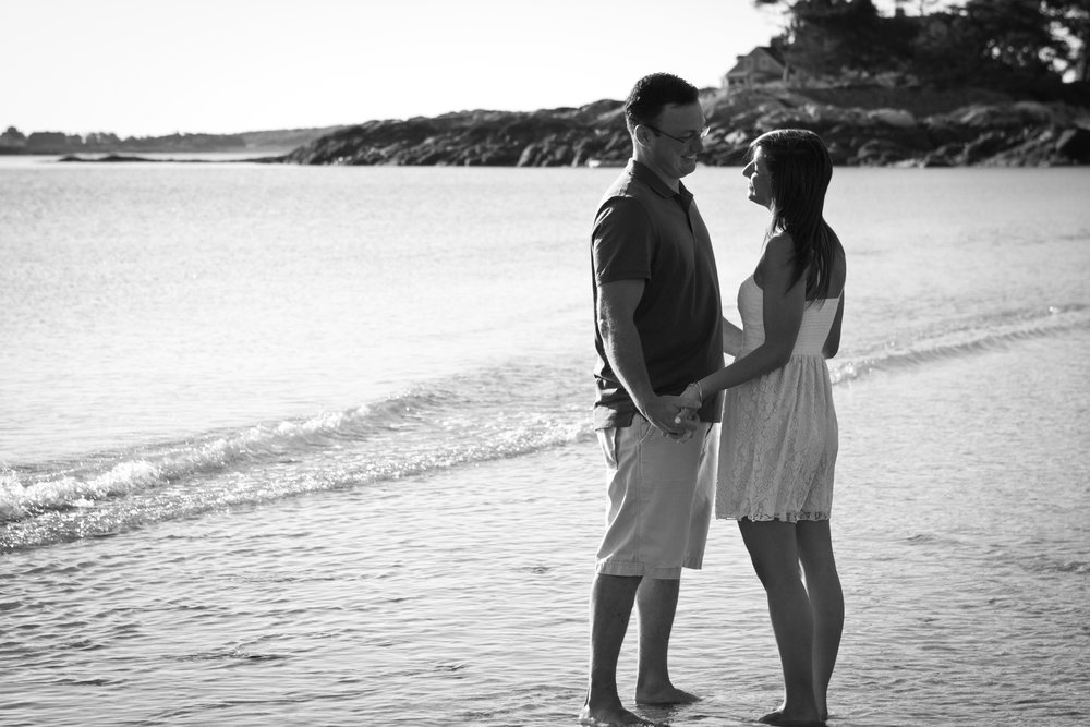 Erin and Mike Sandy Beach Cohasset South Shore Massachusetts Engagement Photographer Shannon Sorensen Photography