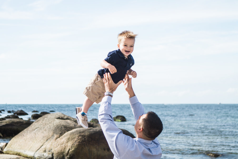 Spring Family Beach Session at Harkness Memorial State Park Waterford Connecticut Shoreline Photographer Shannon Sorensen Photography