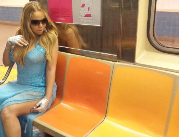 VERSACE GOWN SUBWAY MARIAH