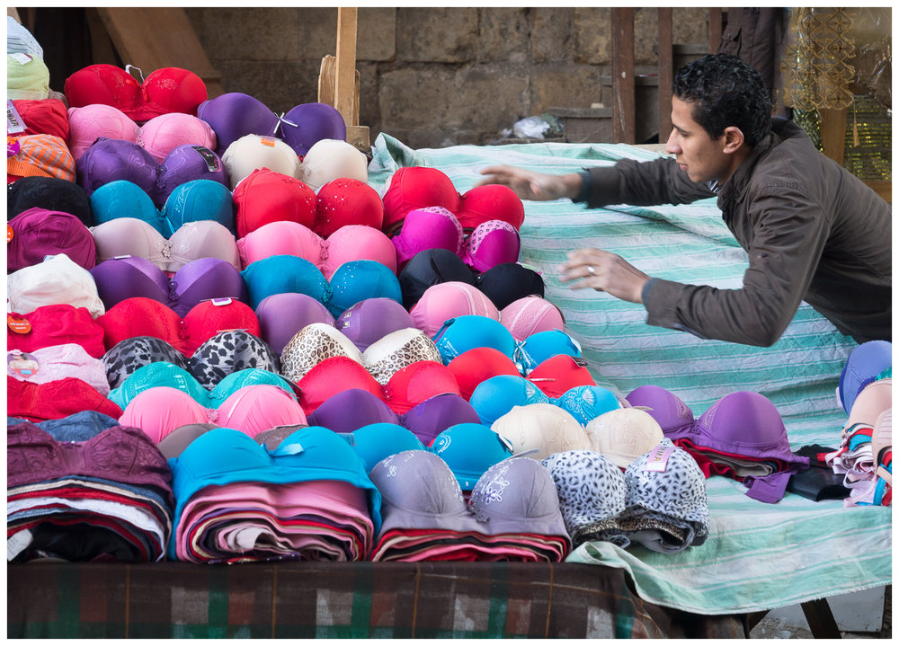 Morning Set-up in the Cairo Textile Souk