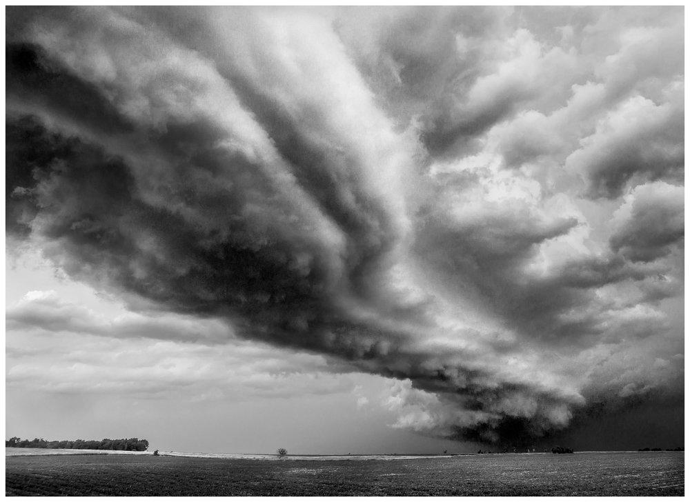 Wall of Weather Near Fort Townsend, South Dakota