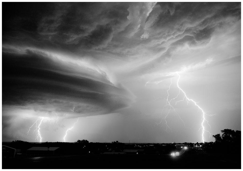 Lightning Storm Near Canadian, Texas