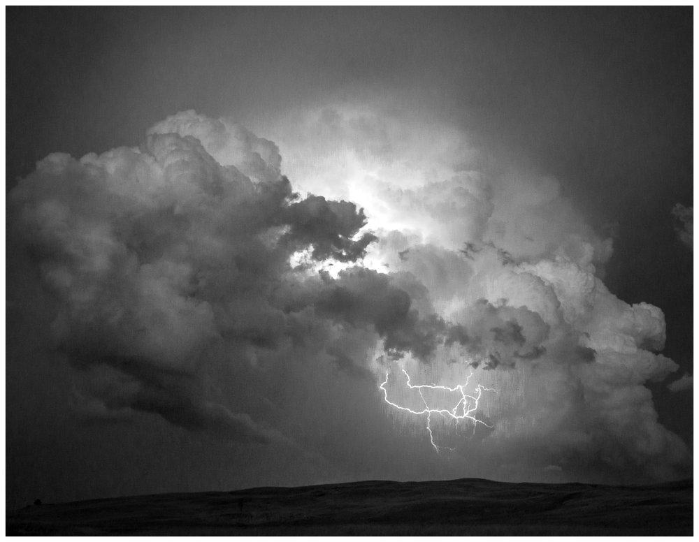 Lightning Storm Near Whitman, Nebraska