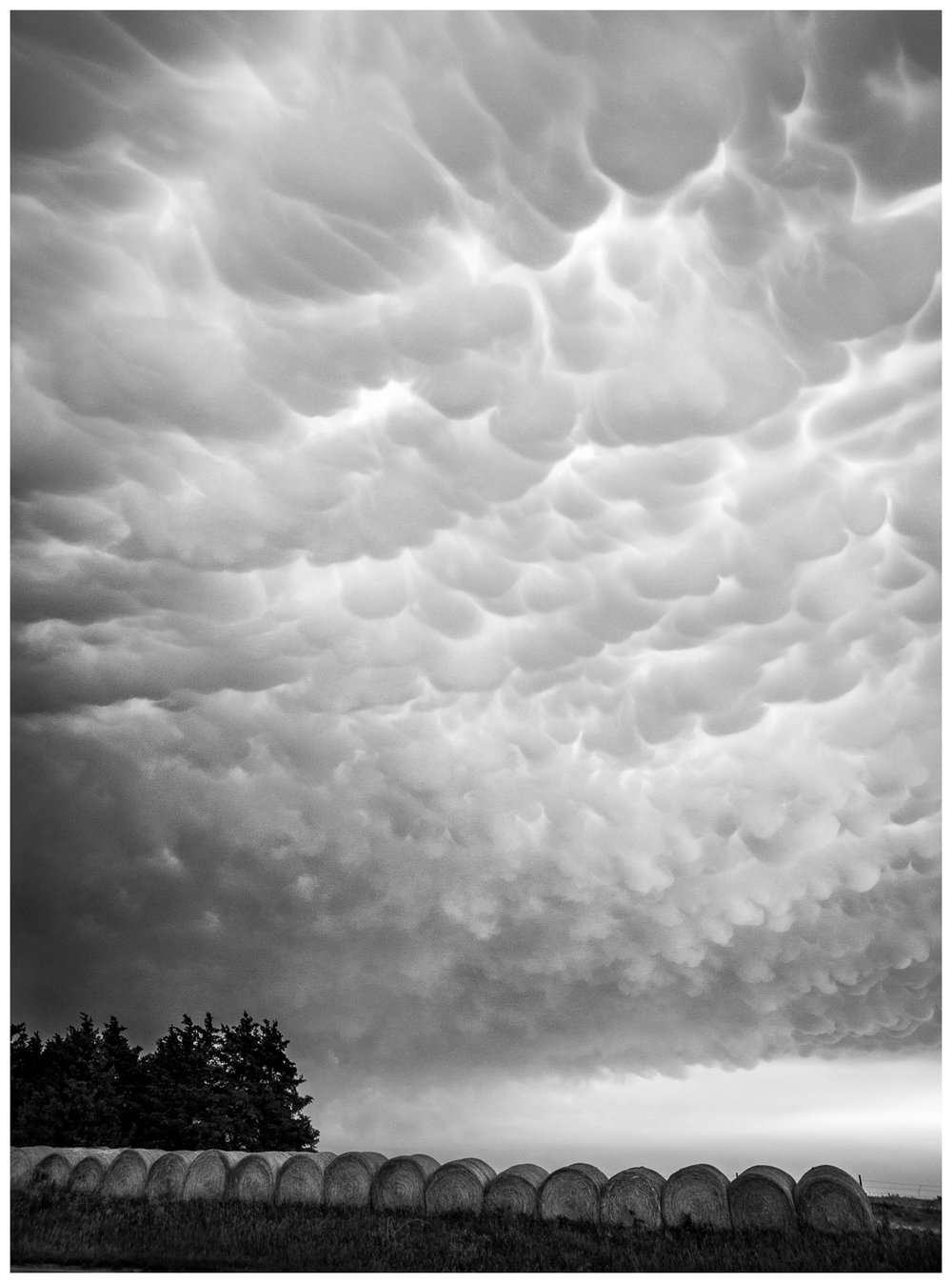 Mammatus Clouds Over Central Nebraska