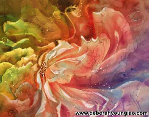 From silk painting to scarf deborah younglao art flower image maniupulated in ps mightylinksfo