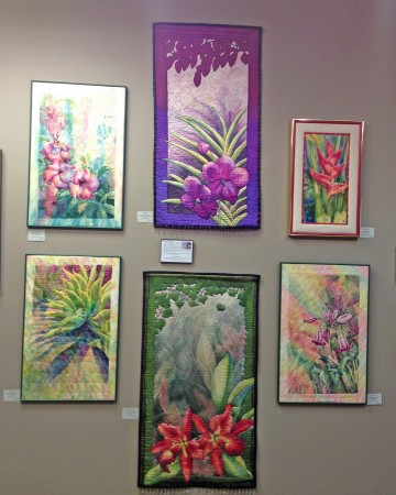 Deborah Younglao quilted silk paintings at Waverly Artists Group