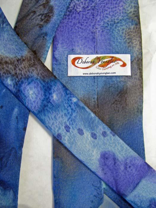 silk tie label