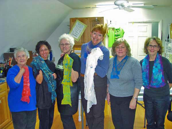 Piedmont SIlk Painters with felted scarves