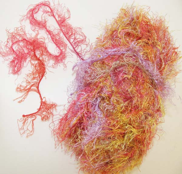 multicolored fuzzy yarn