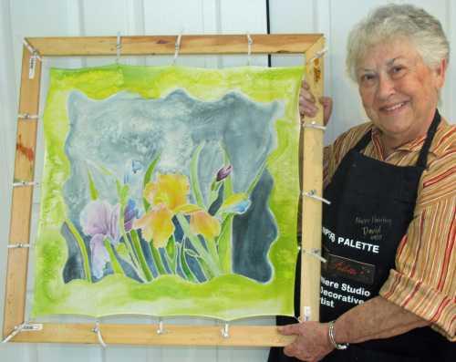Deborah Younglao silk painting class: student work