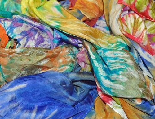 Piedmont Silk Painters: shibori scarves