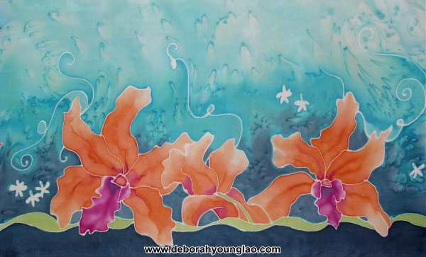 Tangerine Orchids detail