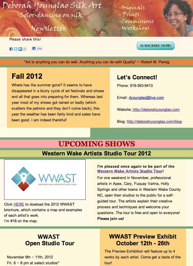 Screen shot Deborah Younglao Silk Art Fall 2012 Newsletter
