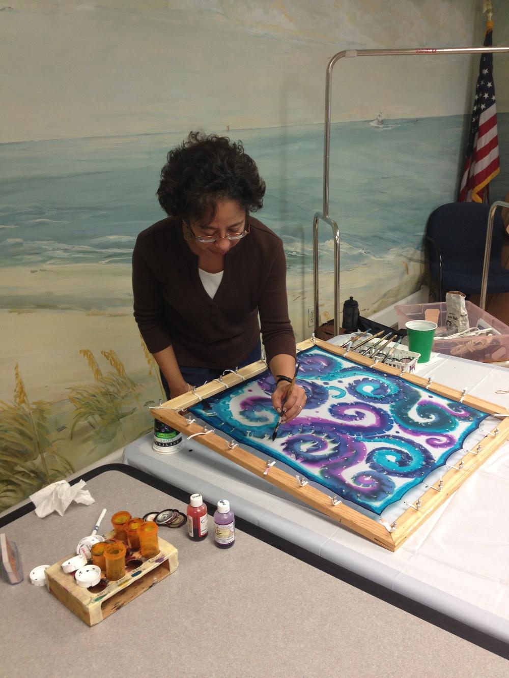 silk painting demo