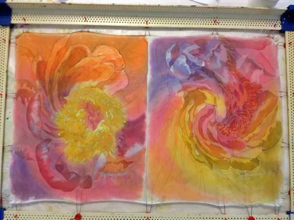 batik flowers WIP  4