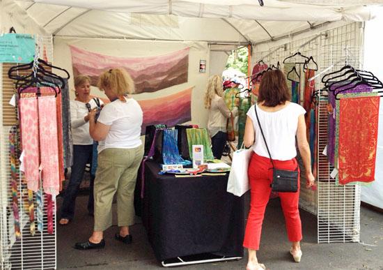 Deborah Younglao silk art booth at Artsplosure