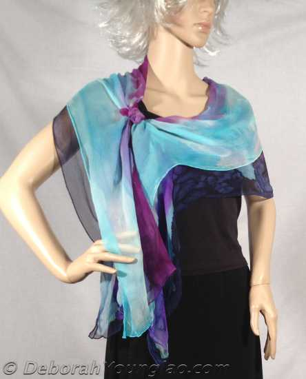 Silk shawl Land of Purple