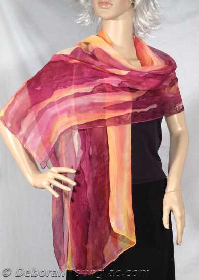 silk shawl santa fe sunset 5