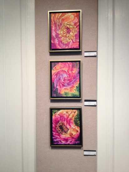 Deborah Younglao silk batik paintings at LeMoyne Gallery