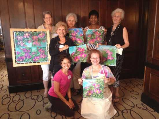Deborah Younglao SPIN silk painting workshop Tallahassee